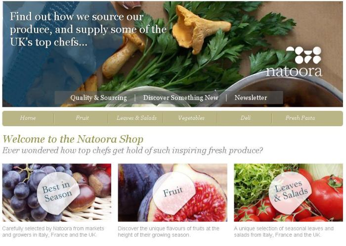 En la web de Ocado se encuentran varias tiendas especializadas en una categoría de productos. Fuente:Ocado