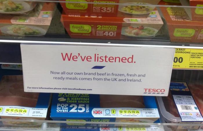 Tesco We have listened