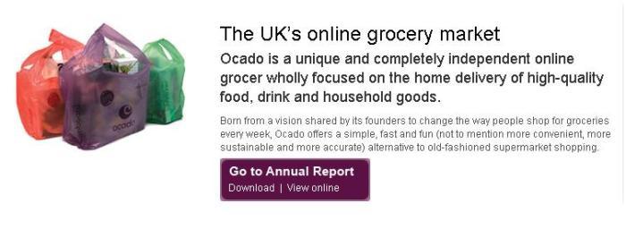 Ocado, supermercado o empresa de servicios para retailers? Fuente Ocado Group