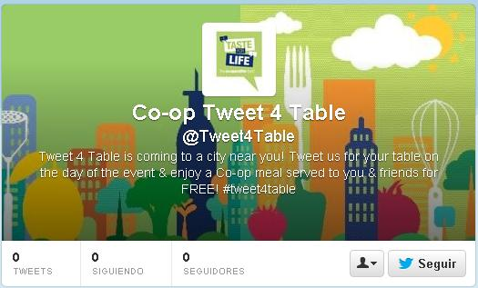 The Co-Operative Tweet for a Table