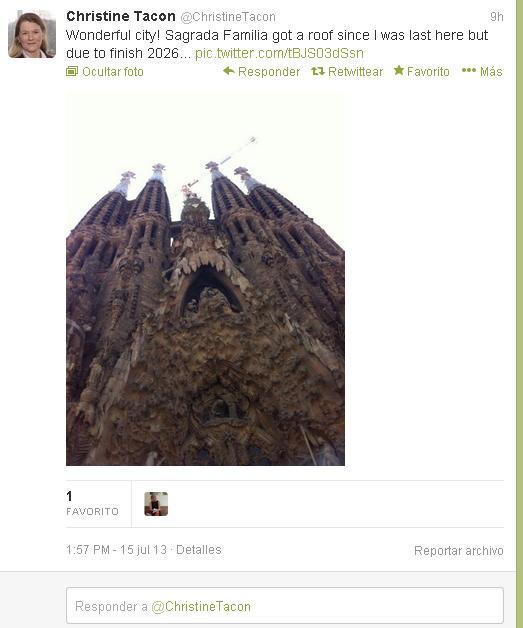 El árbitro nos cuenta desde su cuenta en Twitter que está pasando unos días en Barcelona!