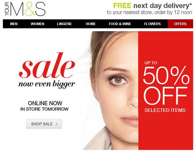 Marks & Spencer - online sale