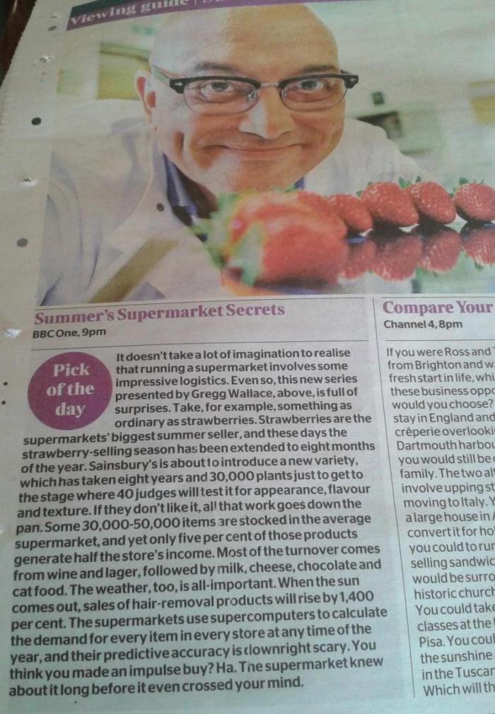 The Times - Summer Supermarket Secrets