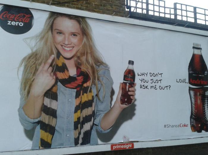 Coca cola con tu nombre para ligar