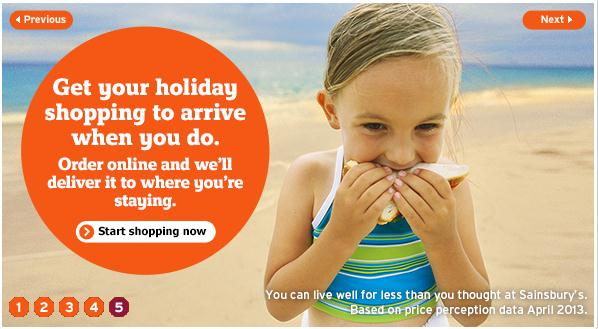 Sainsbury - staycation online