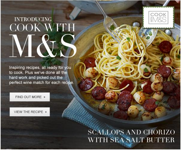M&S Cook with Chorizo Scallop
