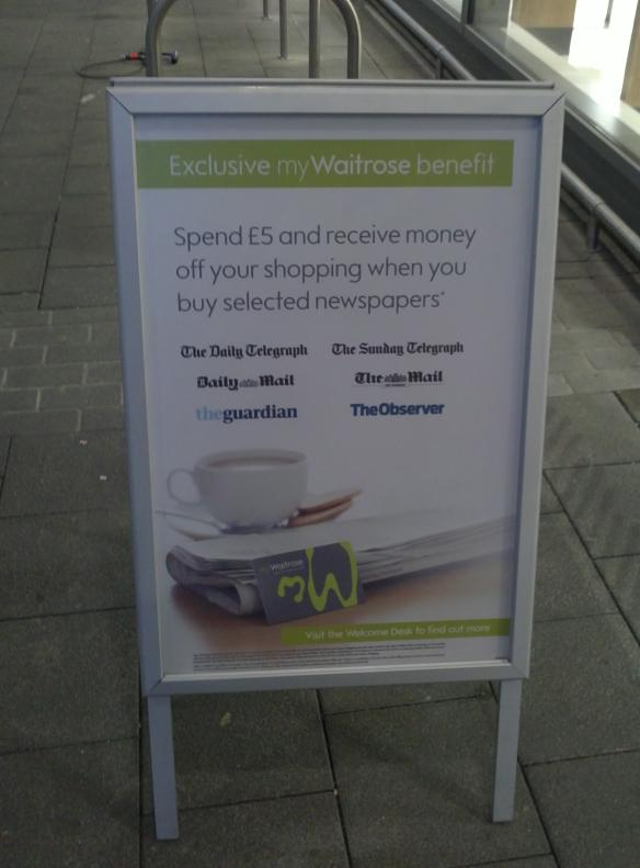 Waitrose - discount newspaper