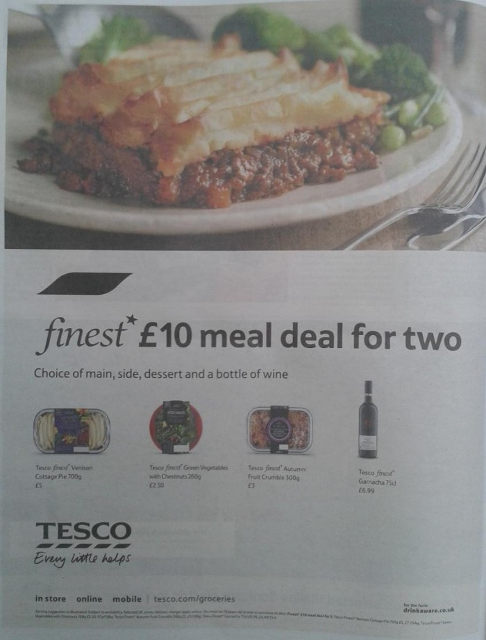 Tesco - finest meal deal