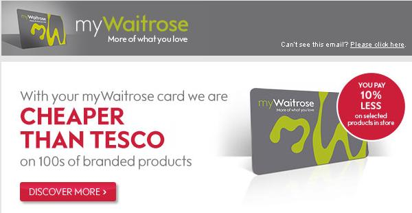 Waitrose - cheaper than Tesco