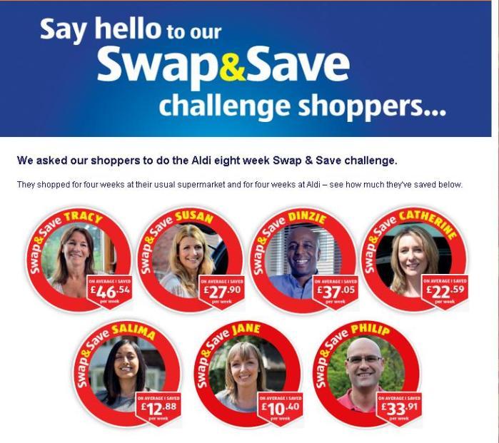 Aldi - Swap and Save Challenge
