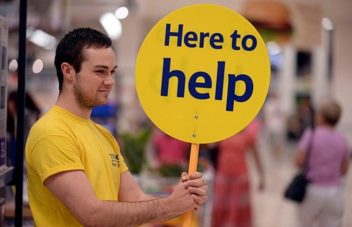 Tesco: Están aquí para ayudar. Fuente: Tesco