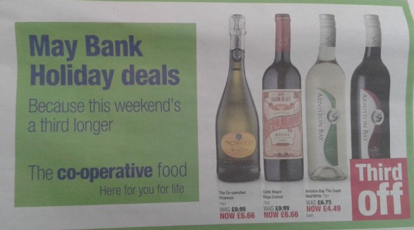 The Co-Operative Third Off Ad