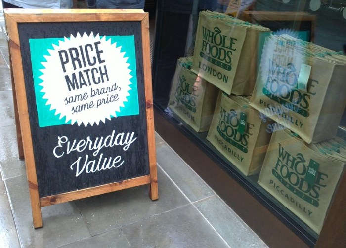 Wholefoods - price match 02