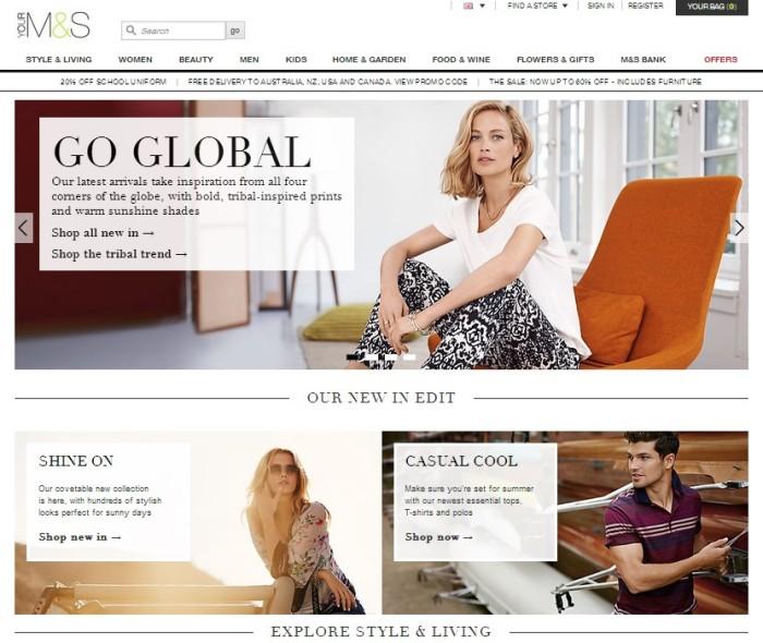 La nueva web de M&S por ahora fuente de disgustos para el retailer.