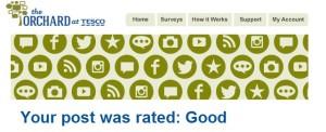 Tesco - orchard good post