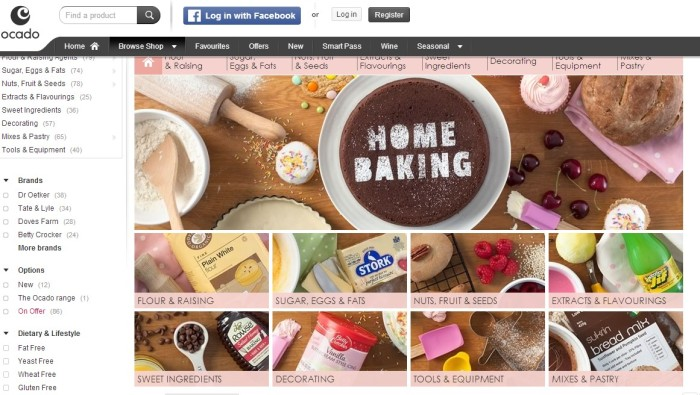 Ocado - Home Baking