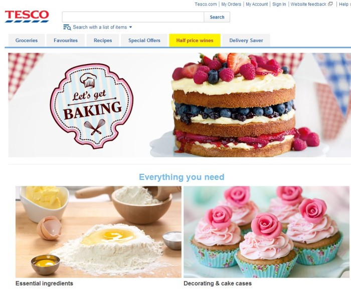 Tesco - Lets Get Baking