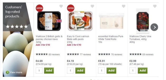 Waitrose - Customers Top Rated Products