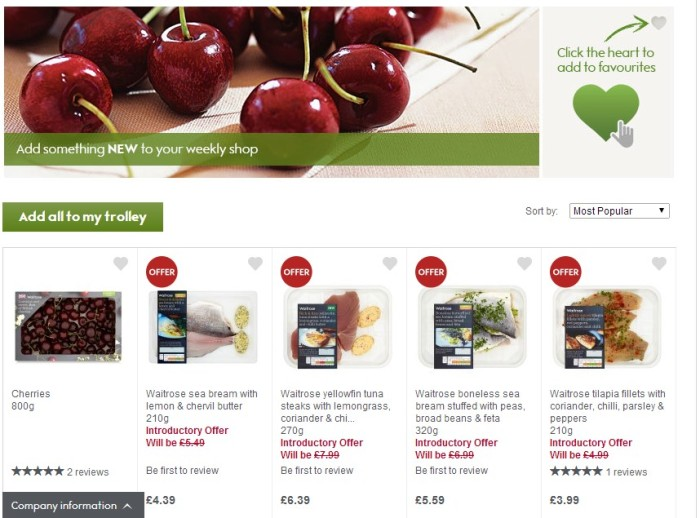 Waitrose - New Products