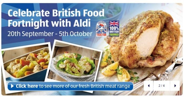 Aldi con los productos locales. Fuente Aldi UK.