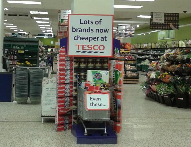 Tesco - Cheaper brands