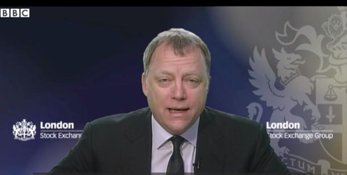 Andrew Higginson, presidente de Morrisons, entrevistado en la BBC. Fuente BBC