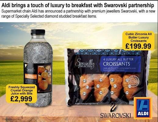 Aldi anuncia su alianza con Swarovski para lanzar versiones premium de algunos de sus productos.