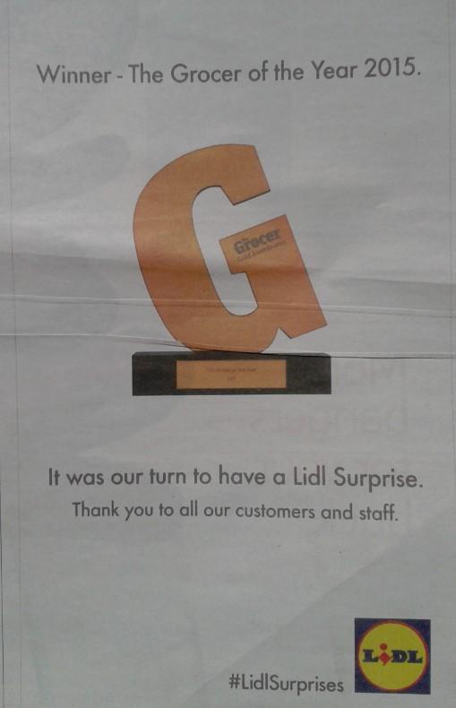 El viernes ya aparecían los agradecimientos de Lidl en los periódicos nacionales.