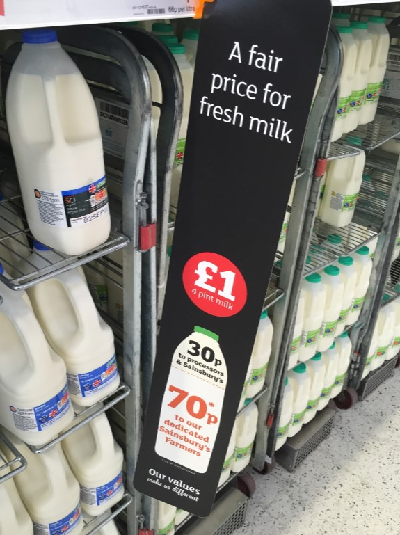 Sainsbury's - fair price milk