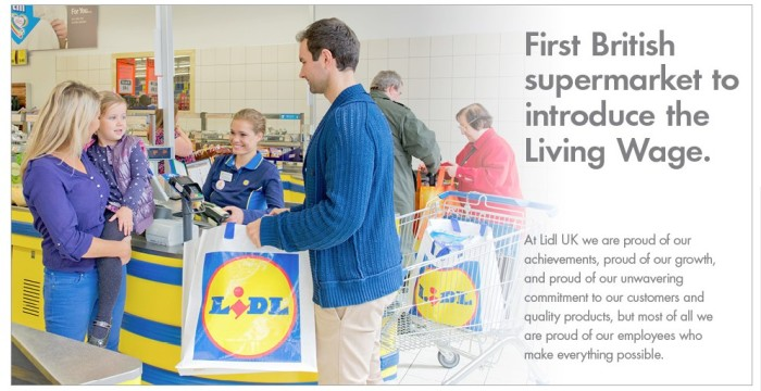 Lidl - Living Wage